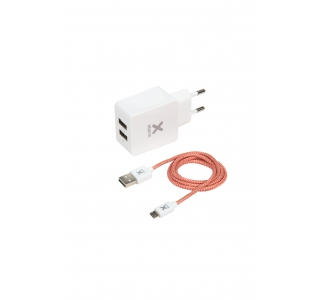 Micro USB Cable + AC Adapter