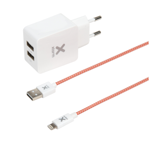 Lightning USB Cable + AC Adapter